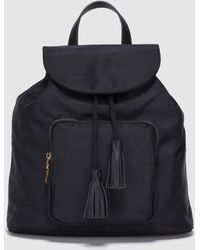 El Corte Inglés - Wo Black Nylon Backpack With Flap - Lyst
