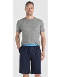 GANT - Short Blue Knitted Pyjama Bottoms - Lyst