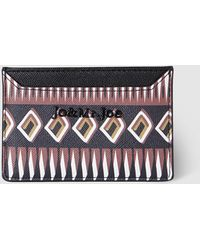 Jo & Mr. Joe - Wo Eco-leather Card Holder With Print - Lyst