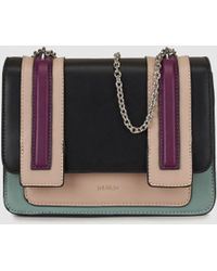 Jo & Mr. Joe | Art Brut Small Multicoloured Crossbody Bag With A Chain Strap | Lyst