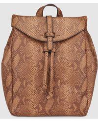 El Corte Inglés - Wo Brown Backpack With Snakeskin Effect - Lyst