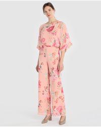 Yera - Floral Wide-leg Trousers - Lyst