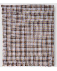 El Corte Inglés - Grey Foulard With Contrasting Checks - Lyst