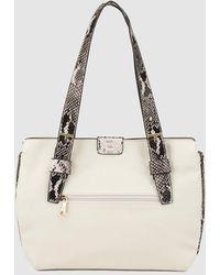 Pepe Moll - Beige Shoulder Bag With Snakeskin Print - Lyst