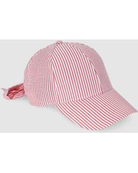 c343e11f21a Lyst - Brixton Fiddler Fisherman Red Stripe Hat in Red - Save 52%