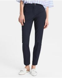 Zendra El Corte Inglés - El Corte Inglés Zendra Textured Weave Trousers With Front Fastening - Lyst