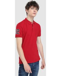 Green Coast - Red Short Sleeved Polo Shirt - Lyst
