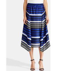 Lauren by Ralph Lauren - Striped Midi Skirt - Lyst