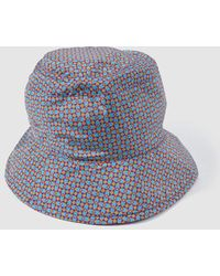 Jo & Mr. Joe - Wo Purple Printed Rain Hat - Lyst