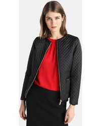 Yera - Quilted Jacket With Gemstones - Lyst