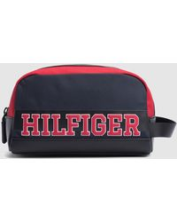 Tommy Hilfiger - Navy Blue Toiletry Bag With Brand Detail On The Front -  Lyst 5f68c34717e66
