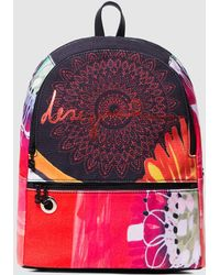 119d4e3876 Desigual - Poppy Flower Novara Backpack With Combined Multicoloured Print -  Lyst
