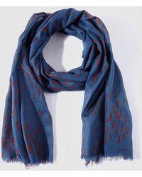 Caminatta - Printed Cotton Blue Foulard - Lyst