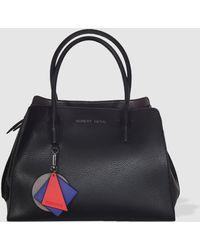 Robert Pietri - Small Black Handbag With Geometric Pendant - Lyst