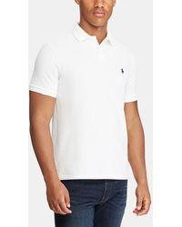 Polo Ralph Lauren - White Short Sleeved Regular-fit Piqué Polo Shirt - Lyst