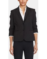Lauren by Ralph Lauren - Black Blazer With French Sleeves - Lyst