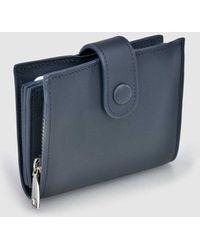 Gloria Ortiz   Nina Navy Blue Leather Wallet   Lyst