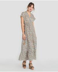 indi & cold - Long Floral Print Dress - Lyst
