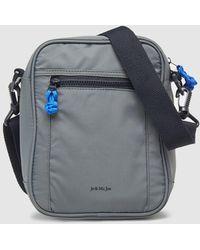 Jo & Mr. Joe - Mens Grey Messenger Bag With A Front Pocket - Lyst