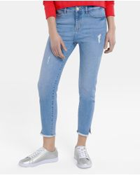 Green Coast - Cropped Jeans With Rips - Lyst