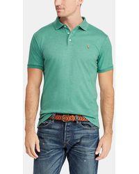 5b02bd3a8ce90 Polo Ralph Lauren - Green Short Sleeve Slim Piqué Polo Shirt - Lyst