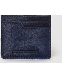 Jo & Mr. Joe | Wo Navy Blue Leather Card Holder | Lyst