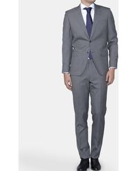 Mirto - Regular-fit Grey End-on-end Suit - Lyst