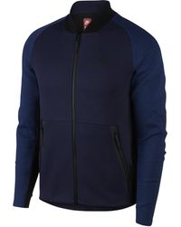 Nike For Cotton Men Lyst Sweatshirt In Jersey Blend Label Blue White Pzq6xdCqw