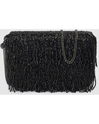 8cc959eb21 Gloria Ortiz - Club Evening Wear Black Crossbody Bag With Beaded Fringe -  Lyst