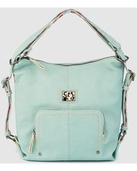 eaf58f732f1a Caminatta - Pale Blue Convertible Hobo Bag backpack - Lyst