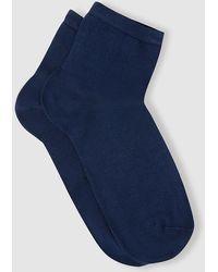 Punto Blanco - Plain-coloured Socks In Lisle Yarn - Lyst