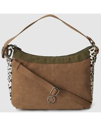 Caminatta - Colt Leather And Synthetic Material Camel Crossbody Bag - Lyst