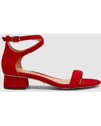Lauren by Ralph Lauren - Red Suede High Heel Sandals. Betha Model. - Lyst