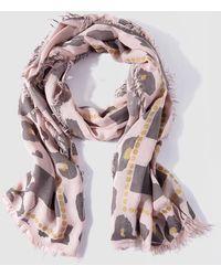 Caminatta - Pink Animal Print Foulard - Lyst