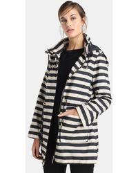 Yera - Stripe Print Hooded Parka - Lyst