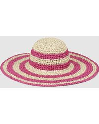 El Corte Inglés - Tan And Pink Striped Sun Hat - Lyst
