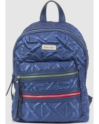 Robert Pietri - Blue Quilted Backpack With Outer Pockets - Lyst