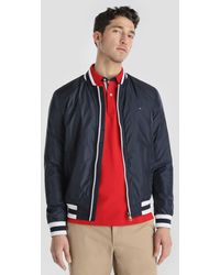 Tommy Hilfiger - Blue Jacket With Two Pockets - Lyst