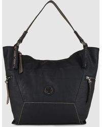 Caminatta - Black Shopper Bag With Outer Pockets - Lyst