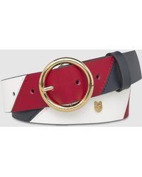 Tommy Hilfiger - Wo Multicoloured Leather Belt With A Round Buckle - Lyst