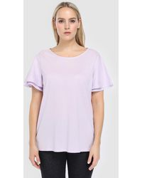 Denim & Supply Ralph Lauren - Plus Size Short Sleeved T-shirt With A Rounded Neckline - Lyst