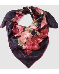 Lauren by Ralph Lauren - Black Printed Silk Handkerchief - Lyst