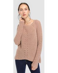 indi & cold - Light Brown Chunky Knit Jumper - Lyst