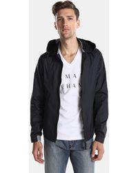 Armani Exchange - Grey Hooded Jacket - Lyst