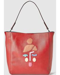 Jo & Mr. Joe - Red Mother Mother Hobo Bag With Front Patches - Lyst