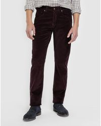 Mirto - Regular-fit Maroon Corduroy Trousers - Lyst
