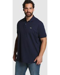 Lacoste - Big And Tall Blue Short-sleeved Polo Shirt - Lyst