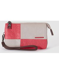 Caminatta - Two-tone Pink And Beige Case With Wrist Strap - Lyst