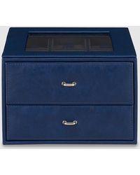 El Corte Inglés - Navy Blue Watch Box With Cufflink Compartment - Lyst