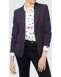 Mirto - Blazer With Irregular Stripes And Button Fastening - Lyst
